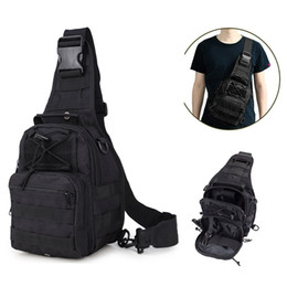 Tactical single Shoulder pack Multi-use waterproof chest cross body sling backpack for Outdoor Hiking Camping climbing on Sale
