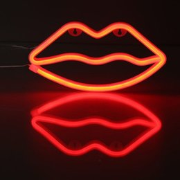 $enCountryForm.capitalKeyWord NZ - Holiday Decor neon signs for Night Light Lips Shaped LED Red Lamp For Baby Bedroom Decoration Wedding Party Decor Creative Gift led light