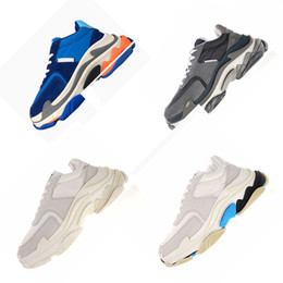 China INS HOT Paris Bal GA 2.0 Triple S Sneaker Luxury Designer Casual Dad Shoes Top Quality Zapatillas Sports Tennis Zapatos Distressed Shoes suppliers