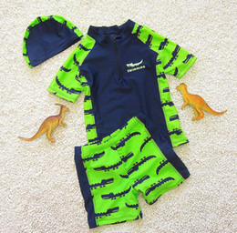 277cf142db Swimsuit For Kids Boys Canada - New Cartoon Boys Swimsuit Crocodile Swimwear  for Kids Teenagers Short