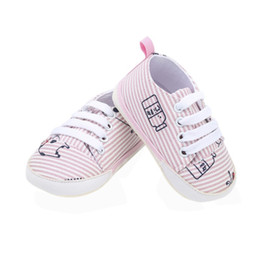 840a769451 Infant Shoes Baby Boy Girl Stripe Soft Bottom Shoes First Walkers For  Newborn Toddler Casual Cartoon Printed Canvas 2018
