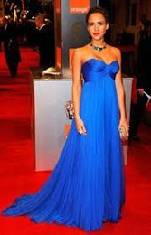 Strapless Sequin Red Dress Australia - Custom Made Elegant Strapless Royal Blue Empire Celebrity Dresses the Oscar Gown by Jessica Alba Prom Evening Gowns