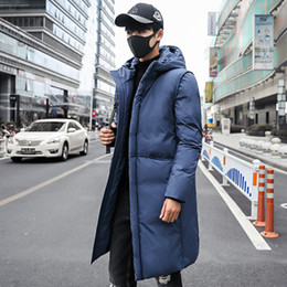 Famous Parka Brands Australia - 6 Color New Style Mens Long Parka Coat Hombre Oversized 5XL Winter Jacket Men Famous Brand Mens Clothing Warm Jaqueta Masculina