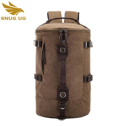 2017 New Fashion Canvas Men s Travel bag Luggage Bag Travel Backpack canvas  men s Duffle overnight weekend Shoulder Tote 936f183becafb