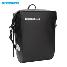 Bicycle rear panniers rack online shopping - ROSWHEEL Water Resistant Bicycle Rear Rack Bag Hanging Pannier L large capacity be able to carry various traveling necessities