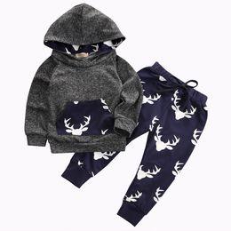 $enCountryForm.capitalKeyWord NZ - Autumn&Winter Newborn Toddler Baby Boys Girls Hoodie Deer Long Sleeve T-shirt Top+Pants Leggings 2pcs Outfits Set
