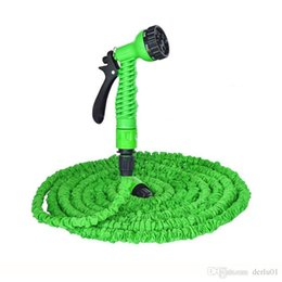 Green hose online shopping - Garden hose FT FT FT FT Flexible X Garden Water Hose With Spray Gun Car Wash Pipe Retractable Watering Telescopic Rubber Hose