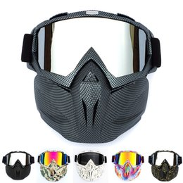 Ski Motorcycle NZ - Outdoor Motorcycle Safety Eyewear Goggle Cycling Full Mask Goggles Snowboard Masks Cycling UV Windproof Skate Ski Glasses Mask