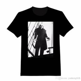 Venta al por mayor de 2018 Nueva Manga de algodón puro Camiseta de moda Hip Hop Nosferatu Cuello redondo Hombre Camiseta de oficina de manga corta