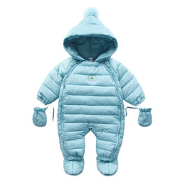 China Baby Coveralls Rompers Winter Thick Boys Costume Girls Warm Infant Snowsuit Baby Wear Newborn Down Apparel Outdoor clothing cheap winter infant baby wear clothes suppliers