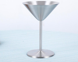 Party Goblets Cups NZ - Stainless Steel Hip Flasks Wine Glasses Cocktail Goblet Champagne Cups Bar Party Wedding Martini Cup 11*16cm 200ml