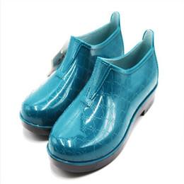 c8eaddf08 Mantenga cálidas a las mujeres de invierno Botas de lluvia impermeables  Zapatos de plástico antideslizantes