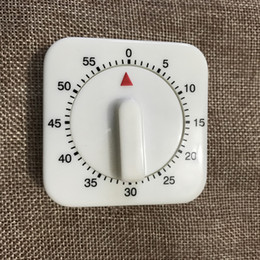 mechanical timer switch 2020 - Kitchen Timer Count Down Alarm Reminder Hot 60 Minutes White Square Mechanical Timer for Kitchen lin2551