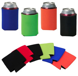 $enCountryForm.capitalKeyWord Canada - Solid Color Neoprene Foldable Stubby Holders Beer Cooler Bags For Wine Food Cans Cover Kitchen Tools SN436