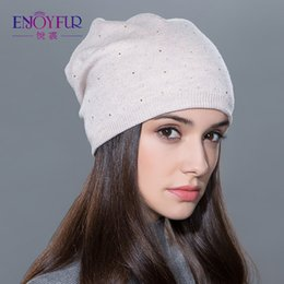 Beanies For Winter Australia - Women's winter hat knitted wool beanies female fashion skullies casual outdoor ski caps thick warm hats for women S1020