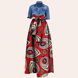 $enCountryForm.capitalKeyWord Canada - Women African Print Long Skirt Ankara Dashiki High Waist A Line Maxi Long Umbrella Skirt