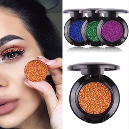 Eyeshadow Pigment Palette Wholesale NZ - New arrival colorful shimmer eyeshadow palette waterproof sexy red pigment powder mermaid glitter eyeshadow gold blue green