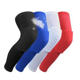 2018 Бренд безопасности баскетбольные коленные подушки для взрослых Antislip сотовый коврик Ноги колено поддержки теленок сжатия kneecap велосипедный коленный протектор R09