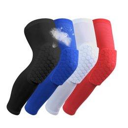 Ingrosso ginocchiere basket sicurezza marchio per adulti Anti Slip supporto del ginocchio a nido d'ape Pad gamba lunga vitello compressione rotula del ginocchio ciclismo Protector