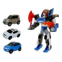 car actions 2019 - Tobot 3 In 1 Robot Toys Xyw Deformation Action Figure Merge Car Children Cartoon Animation Model Set discount car action