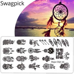 Owl nail art online shopping - Swagpick Owl Lace Flowers Stamping Nail Art dreamcatcher Konad Stamp Image Plate Stainless Steel Template Polish Manicure Tool
