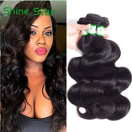 Unprocessed Wholesale Human Hair Australia - 10A Mink Brazilian Virgin Hair Body Wave 3 or 4 Bundles Unprocessed Peruvian Raw Indian Malaysian Wet And Wavy Human Hair Extensions