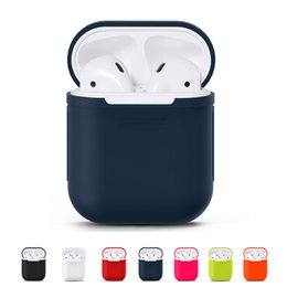 e4630bbb734 For Apple AirPods Silicone Case Protective Skin Wireless Bluetooth Cover  for Apple Airpods Charging with opp package