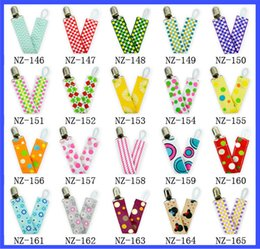 Wholesale 89 styles Baby pacifier clip baby pacifier chain double sided satin nipple anti chain for children health