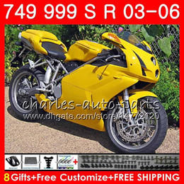 Chinese  Body For DUCATI 749S 999S 749 999 2003 2004 2005 2006 Bodywork 105HM.39 749 S 999 R 749-999 749R 999R 03 04 05 06 Fairing Factory yellow kit manufacturers