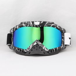Wholesale Flexible Glasses Reflective Colorful Lens Adult Motorcycle Goggles Motocross Bike Cross Country for Women Men
