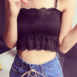 56f77810fc2 Summer Sexy Women Lace Top Tanks Spaghetti Strap Tube Tank Tops Bralette  Bralet Wrap Chest Crop Top Camis Padded Tops Women  517