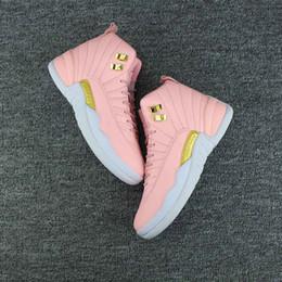 purchase cheap 9d2ba 28255 2018 Nouvelle 12 GS Hyper Jeunesse Rose Limonade Femmes Athlétique  Chaussures de plein air 12s Rose