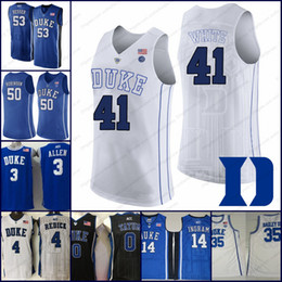 Duke Blue Devils  41 Jack White 50 Justin Robinson 51 Mike Buckmire 53  Brennan Besser black white royal blue NCAA Basketball Jerseys S-3XL 2e7188e59