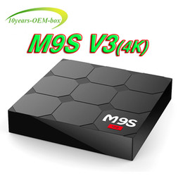 V3 Android Tv Box Canada - RK3229 M9S V3 android 6.0 tv boxes 4K HDR H.265 HEVC 3D play Private model 1GB 8GB WIFI Internet TV Box