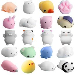 China 3D Soft Squishy Toys Cat Panda Chick Rabbit Unicorn Bear Stretchy Squeeze Relieve Stress Paste on Phone Case suppliers