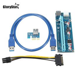 Großhandels3pcs USB 3.0 PCI-E Riser Express 1X 4x 8x 16x Extender Riser-Adapter-Karte SATA 15pin Stecker auf 6-Pin-Stromkabel im Angebot