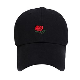 073b3fbbe2508 Rose Dad Caps UK - Rose Embroidery Hat Black Cap Blank Snapback Hip Hop Dad  Cap