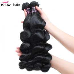 Dark blonDe virgin brazilian hair online shopping - 4 Bundles Peruvian Virgin Hair Water Wave Peruvian Loose Wave g Pc Cheap Brazilian Straight Human Hair Bundles Weaves