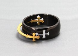 Wholesale New Top Quality Titanium Ring with Cross Charms Moveable Cross Titanium Ring Both Men Women Style