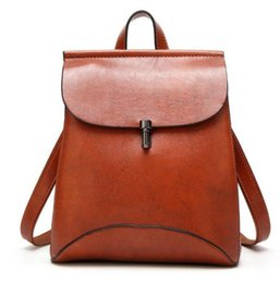 $enCountryForm.capitalKeyWord Canada - Preppy Style women Leather Backpack youth School Backpack Bag For College vintage Bookbags Men male Casual Daypacks