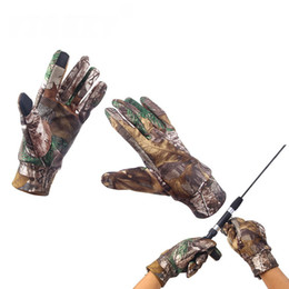 Fish Finger NZ - Camo Fishing Gloves All Finger Anti-Slip Riding Cycling Camping Sports Camouflage Gloves for Spring Autumn Winter Carp Fishing Hunting Glove