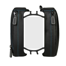 "Panniers For Bikes Canada - Bicycle Smart Phone Bag MTB Mountain Road Bike Cycling Frame Tube Panniers Universal Rotatable Basket for 3.5""-6"" Cell Phone"