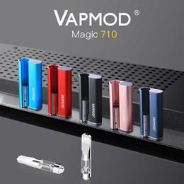 100% Origina Vapmod Magic 710 Kit Vape stylo mod 380mAh Préchauffer Batterie Vaporisateur 510 fil Épais Céramique Coil XTank Pro Cartouche Atomiseur en Solde