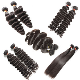 best brazilian virgin curly weave 2019 - Best 10A Raw Virgin Human Hair Weave Brazilian Peruvian Indian Malaysian Hair Body Wave Straight Loose Deep Curly Water