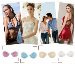 invisible straps 2019 - 4 color lace Invisible Bras Push Up Silicone Bra Backless Strapless Invisible Bras for Women Wedding LJJK1048 discount i