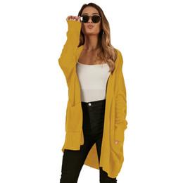 106b1fc6a 2018 European Amazon Wish New Suit-dress Cross Border For Three-colour Yes  Pocket Long Sleeve Knitting Autumn Winter Loose Coat