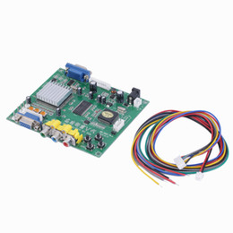slide boards NZ - Freeshipping 1 Set New RGB CGA EGA YUV to VGA HD Video Converter Board Moudle HD9800 HD-Converter Board GBS8200 Non-Shielded Protection