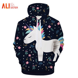 sweatshirt hoodies Canada - 2018 New Arrival Cartoon Animals Letters Floral Print Sweatshirt Men Women Hoodies Fashion 3D Hooded Pullovers Couple Clothing