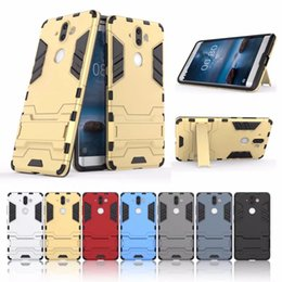 $enCountryForm.capitalKeyWord Canada - Ironman Case For Nokia 8 Sirocco,7 Plus,6 2018,1 2018 Defender Hybrid Hard Plastic+TPU Shockproof Kickstand Cover Iron man 2 in 1 Rugged