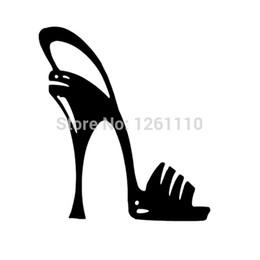 wholesale laptops stickers 2019 - HotMeiNi Wholesale 20pcs lot Sexy Girls High Heel Shoe Decal vinyl sticker for Car SUV Truck Window Bumper Laptop Wall D